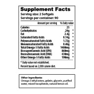 Omega 3 - Lemon - 180-count - sup facts-02
